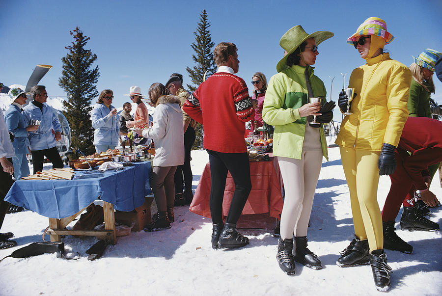 Snowmass Gathering Photograph by Slim Aarons