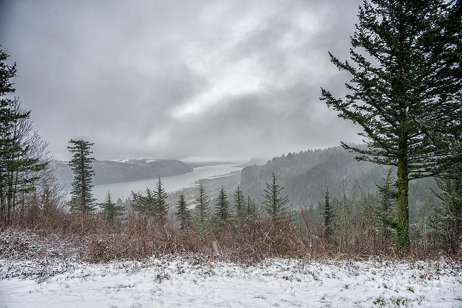 Snowstorm In The Gorge by Craig Leaper
