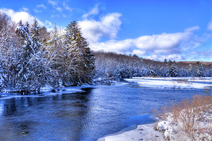 Snowy Banks of the Moose River by David Patterson