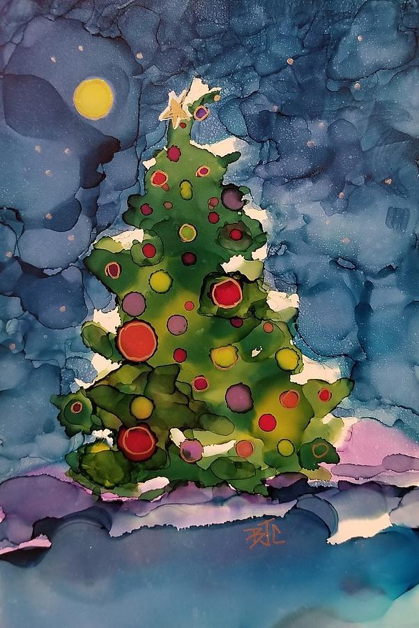 Snowy Christmas Tree.Snowy Christmas Tree