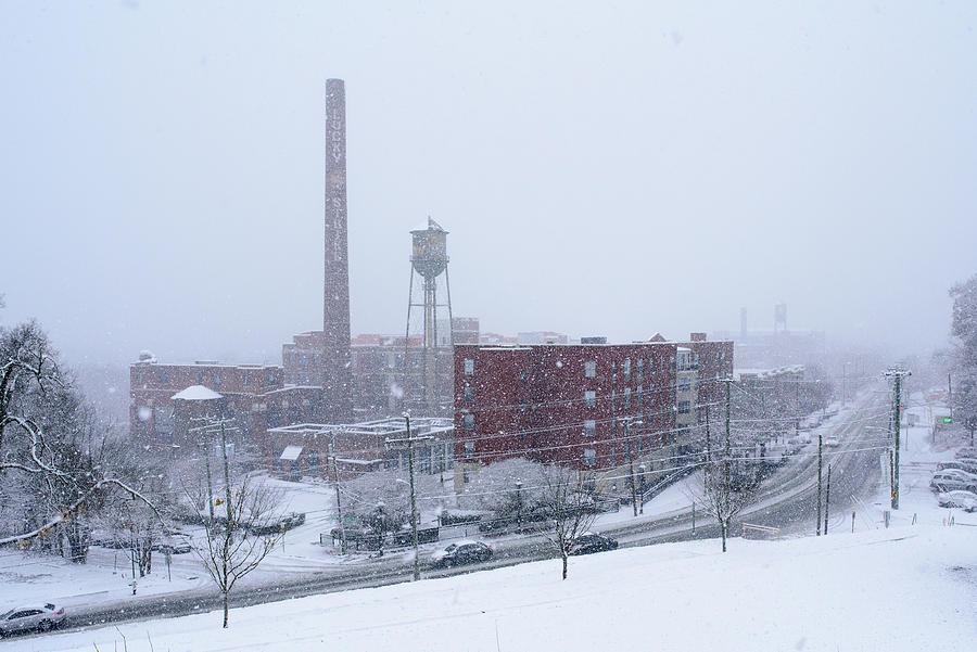 Snowy Day on Libby Hill in Richmond Virginia by Doug Ash