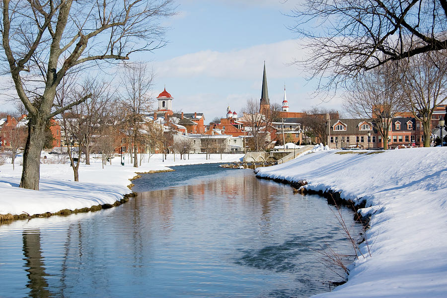 Snowy Frederick Maryland Park And Photograph by Williamsherman