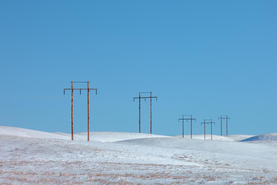Ethridge Photograph - Snowy Line by Todd Klassy