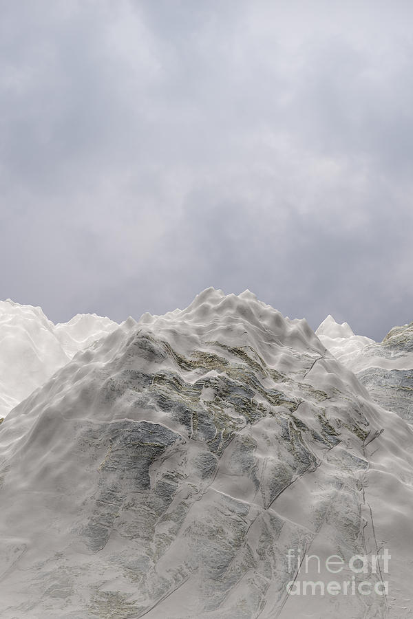 Snowy Mountain 005 by Clayton Bastiani