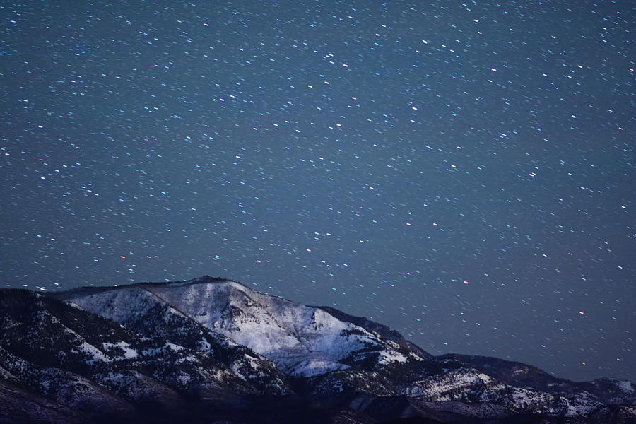 Snowy Mountain At Night Photograph by Harpazo hope
