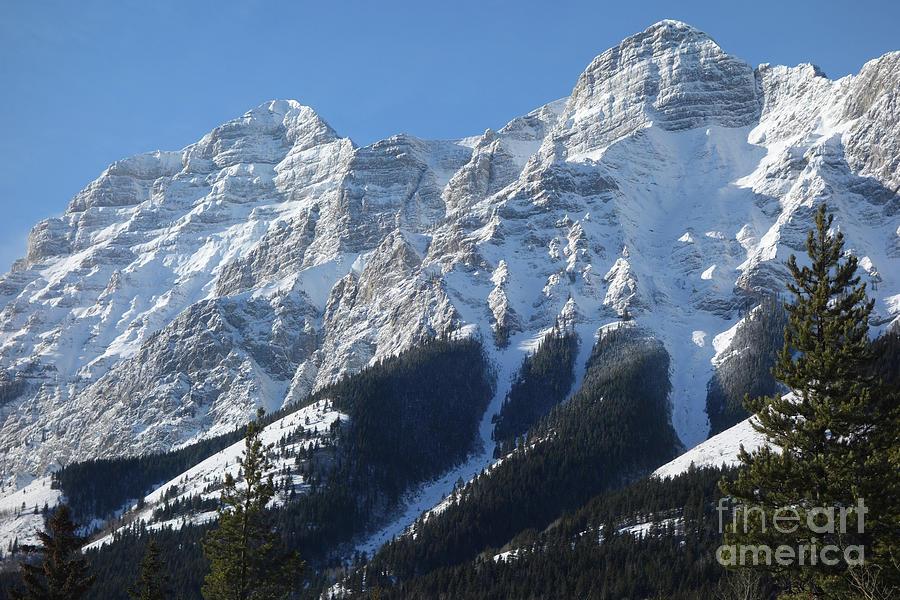 Snowy Mountain Top by Wilko Van de Kamp