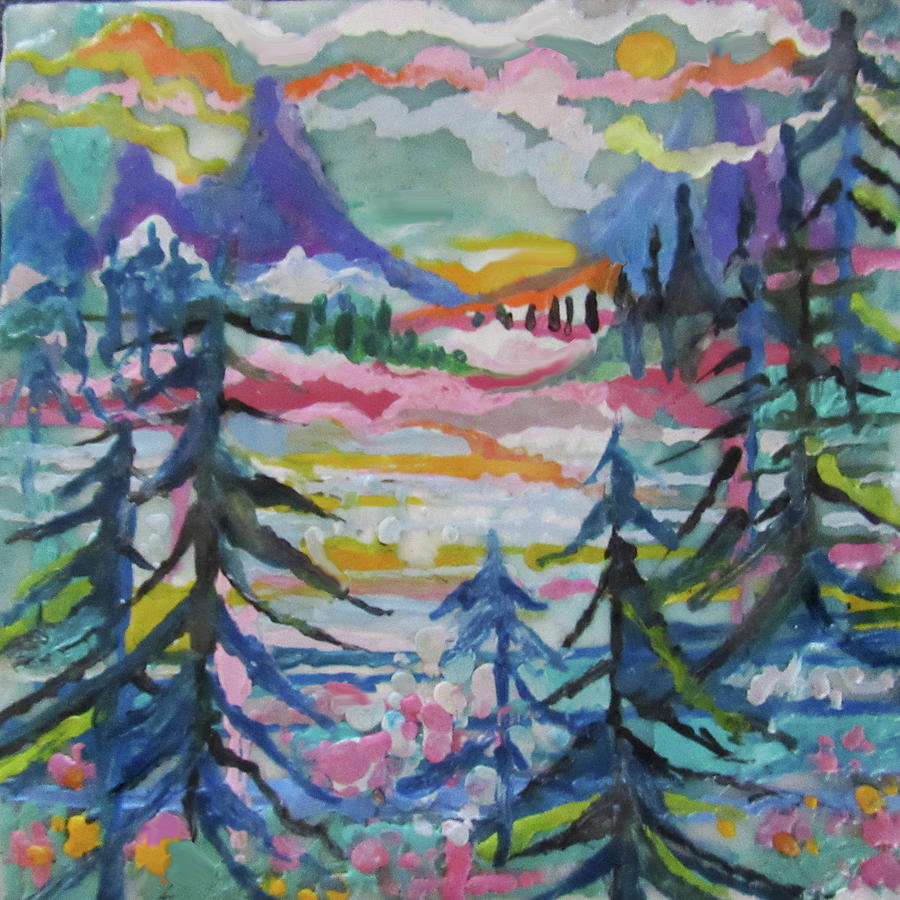 Snowy Mountain Valley by Jean Batzell Fitzgerald