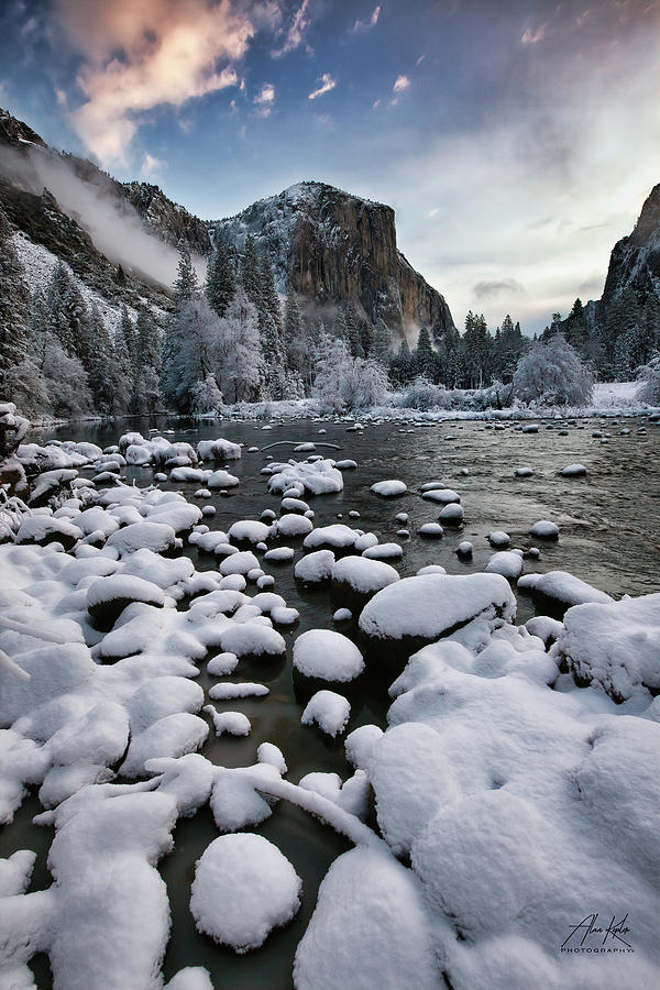 Snowy Rocks Photograph