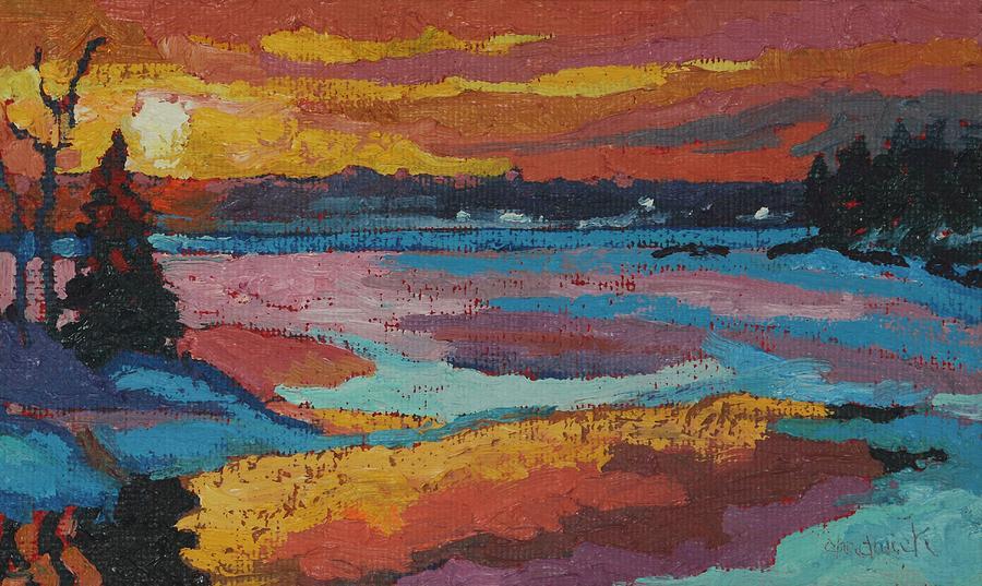 Snowy Singleton Sunset by Phil Chadwick