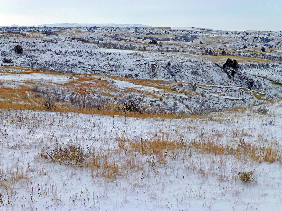 North Dakota Photograph - Snowy Slope County Territory by Cris Fulton