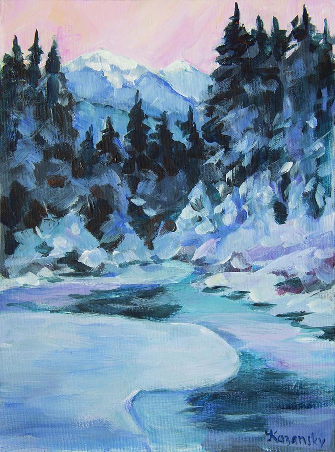 Snowy Winter in Juneau Alaska by Yulia Kazansky