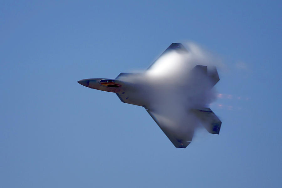 So Long, F-22 Raptor Photograph by Kevin Trotman