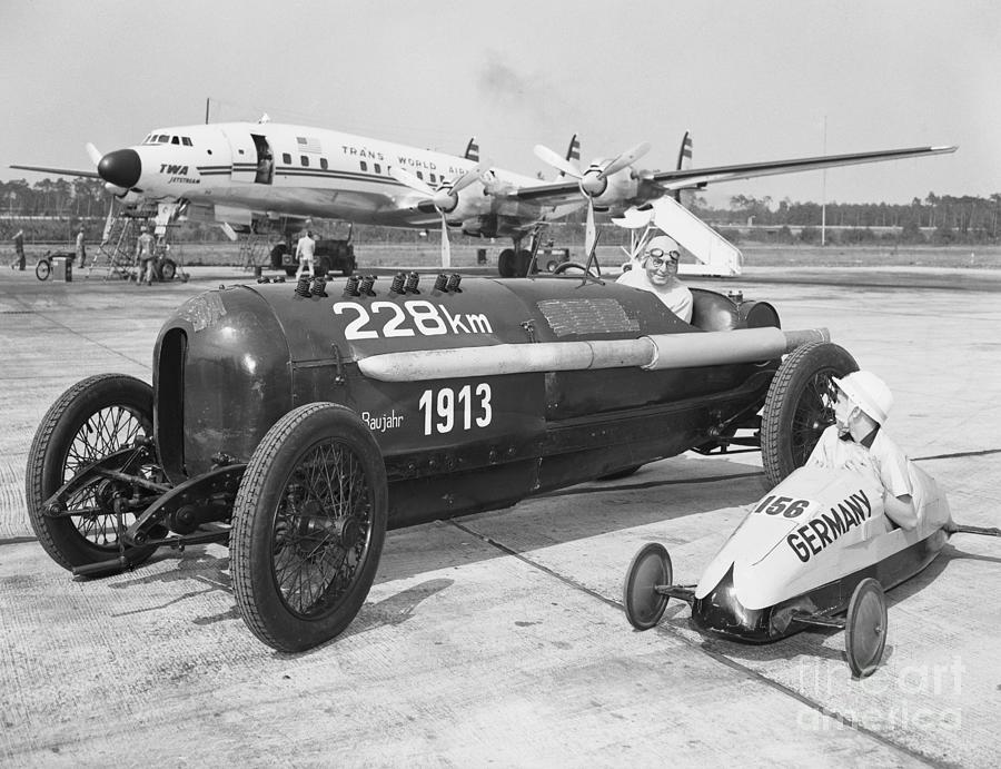 Soap Box And Antique Racing Car Photograph by Bettmann
