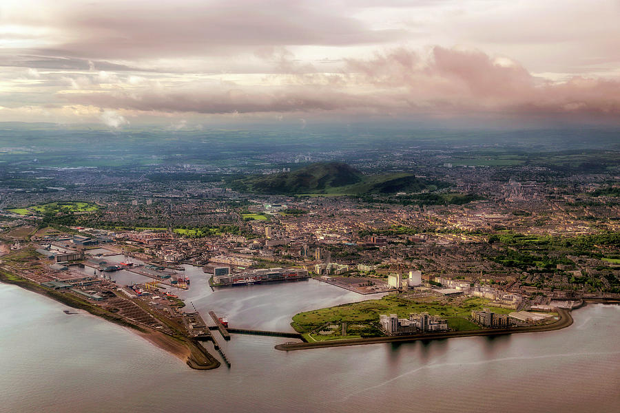 Soaring above the Water of Leith - Leith, Scotland - Edinburgh Aerial by Jason Politte
