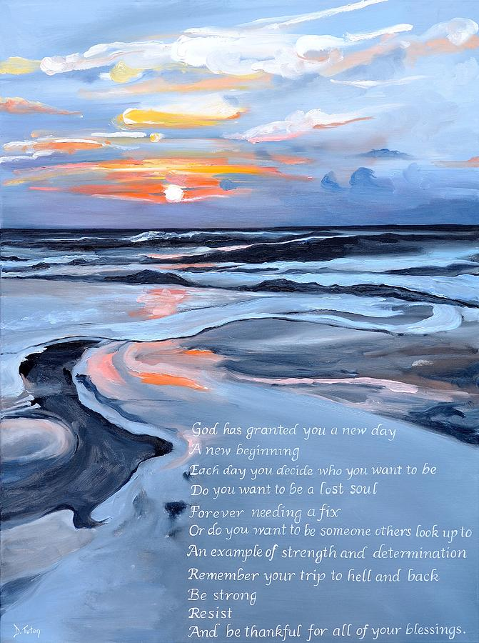 Sobriety Encouragement Painting by Donna Tuten