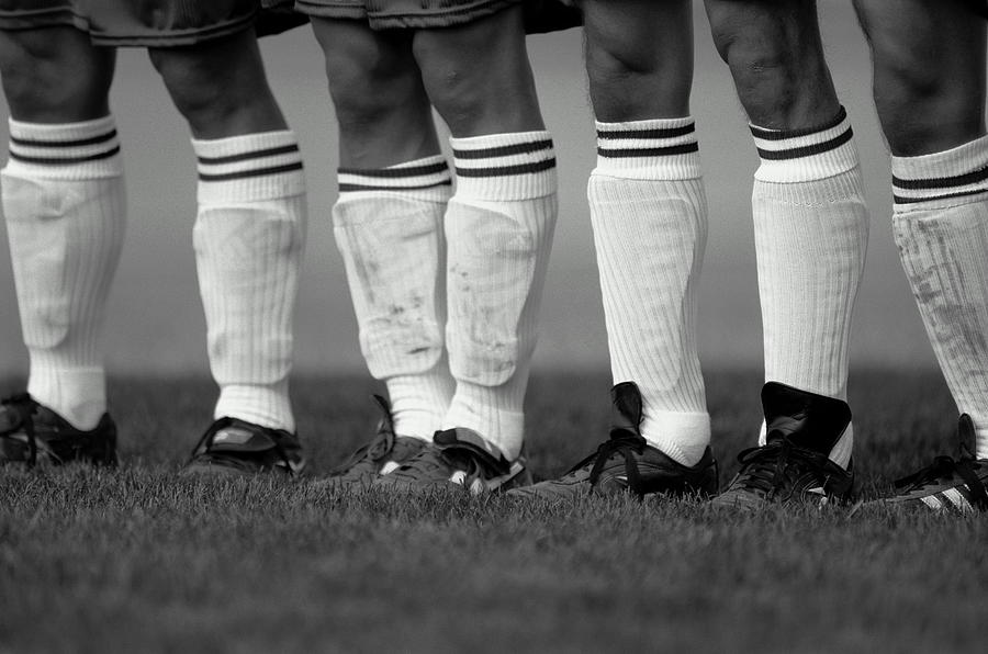 Soccer Players Standing In Line Focus Photograph by Markus Boesch