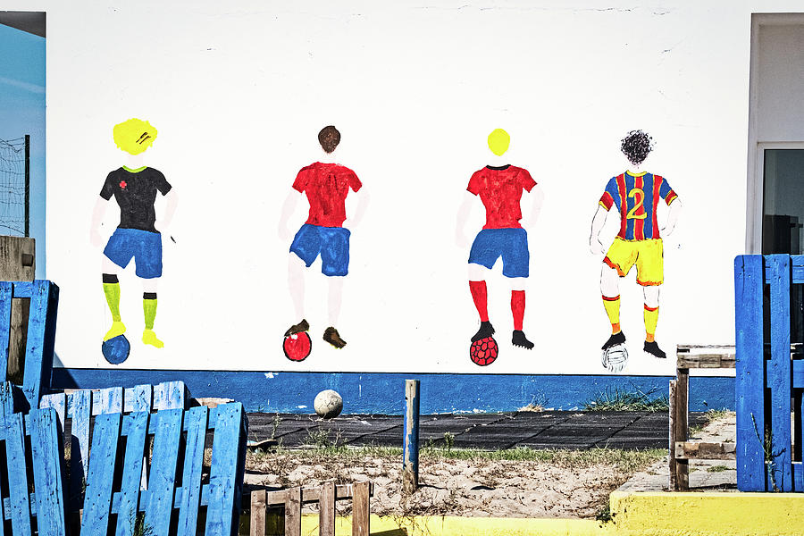 Soccer Players Wall Art - Portugal by Stuart Litoff