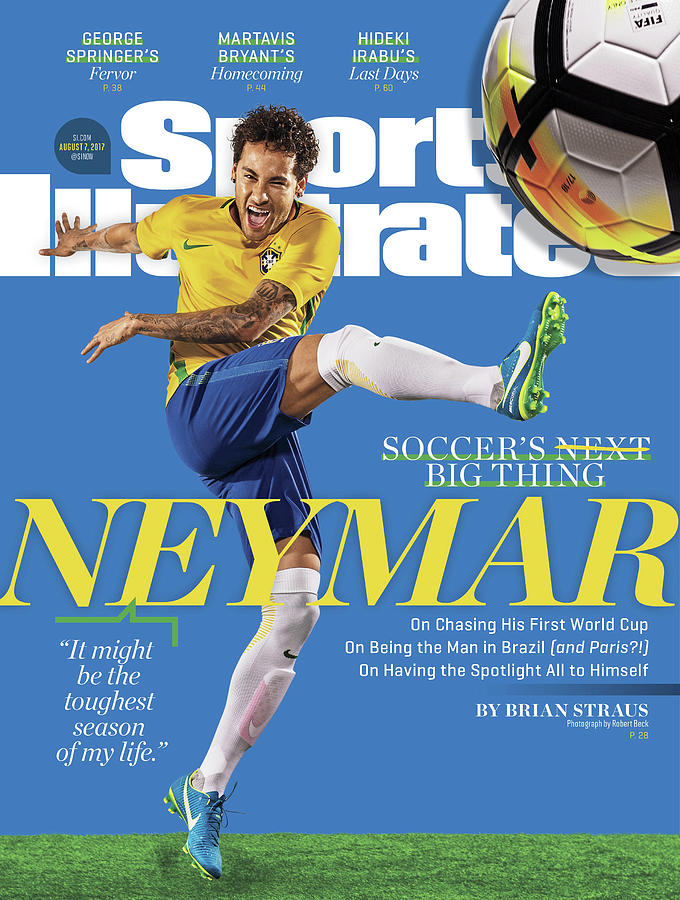 Soccers Big Thing Neymar Sports Illustrated Cover Photograph by Sports Illustrated