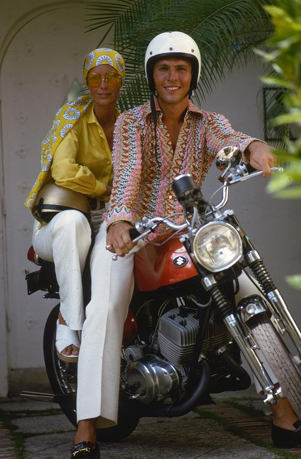 Socialite Bikers Photograph by Slim Aarons
