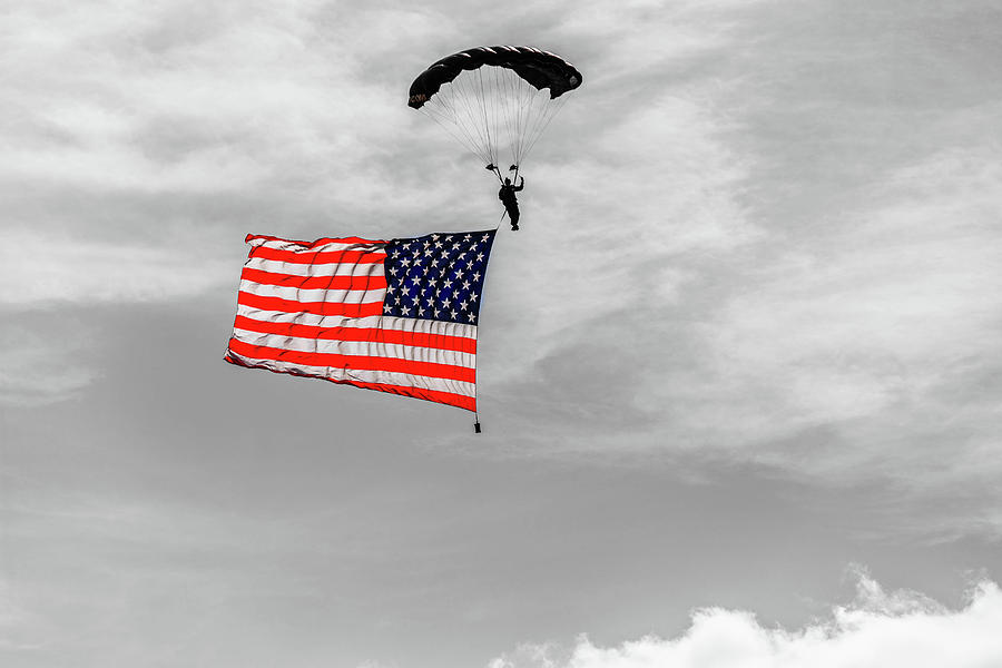 SOCOM Flag Jump in selective color by Doug Camara