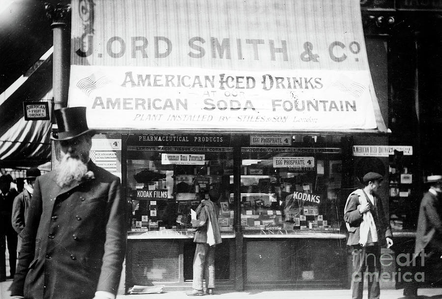 SODA FOUNTAIN, c1910 by Granger