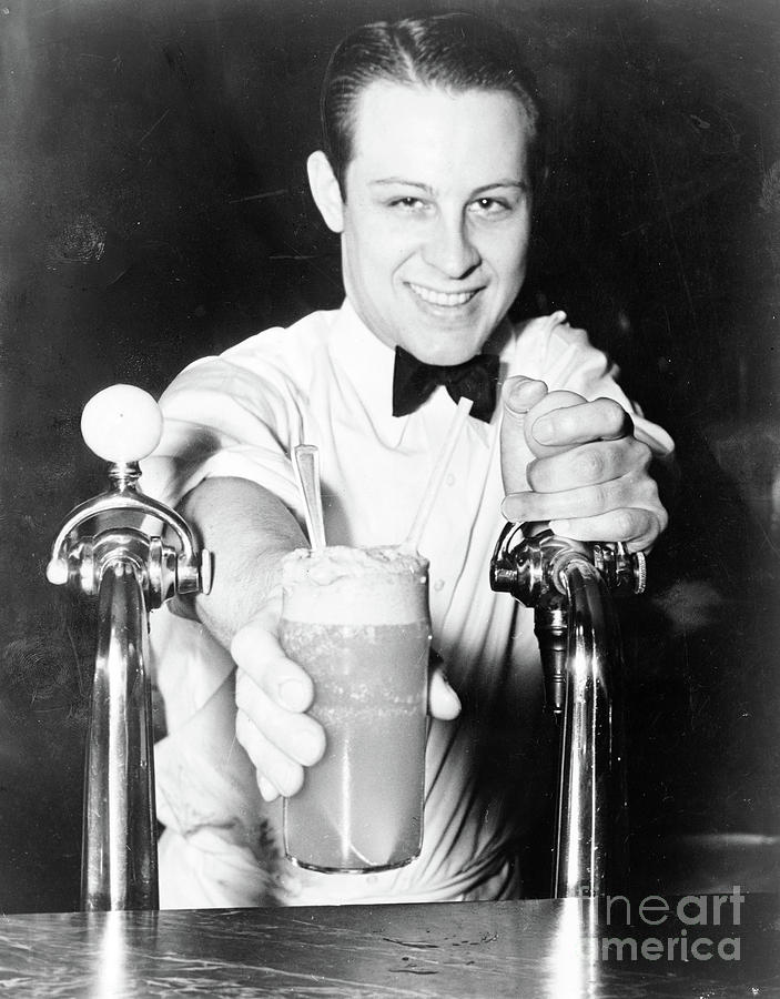 SODA JERK, 1936 by Alan Fisher