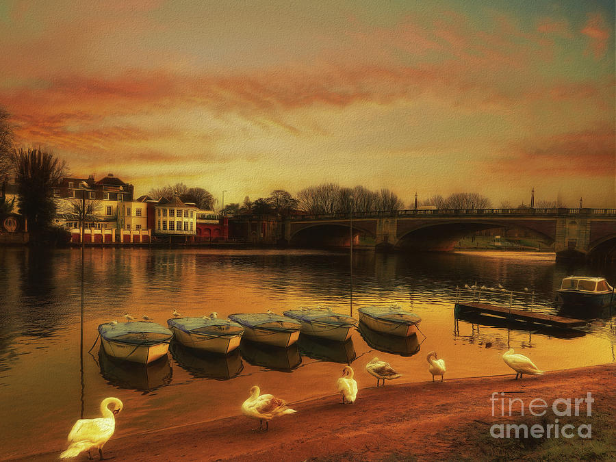 River Thames Photograph - Soft And Warm by Leigh Kemp