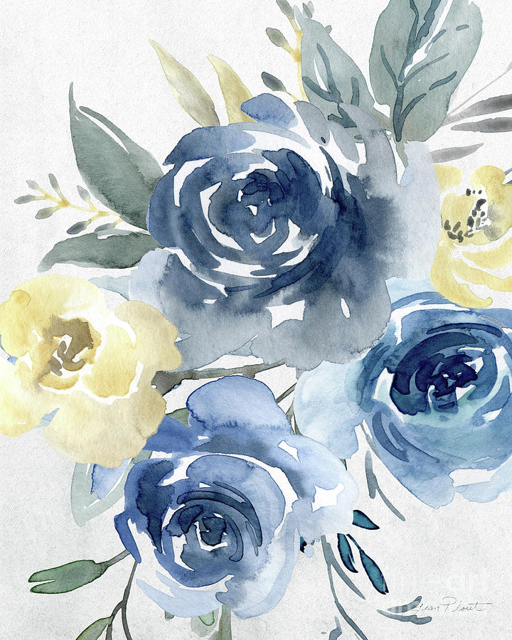 Watercolor Painting - Soft Blossoms D by Jean Plout