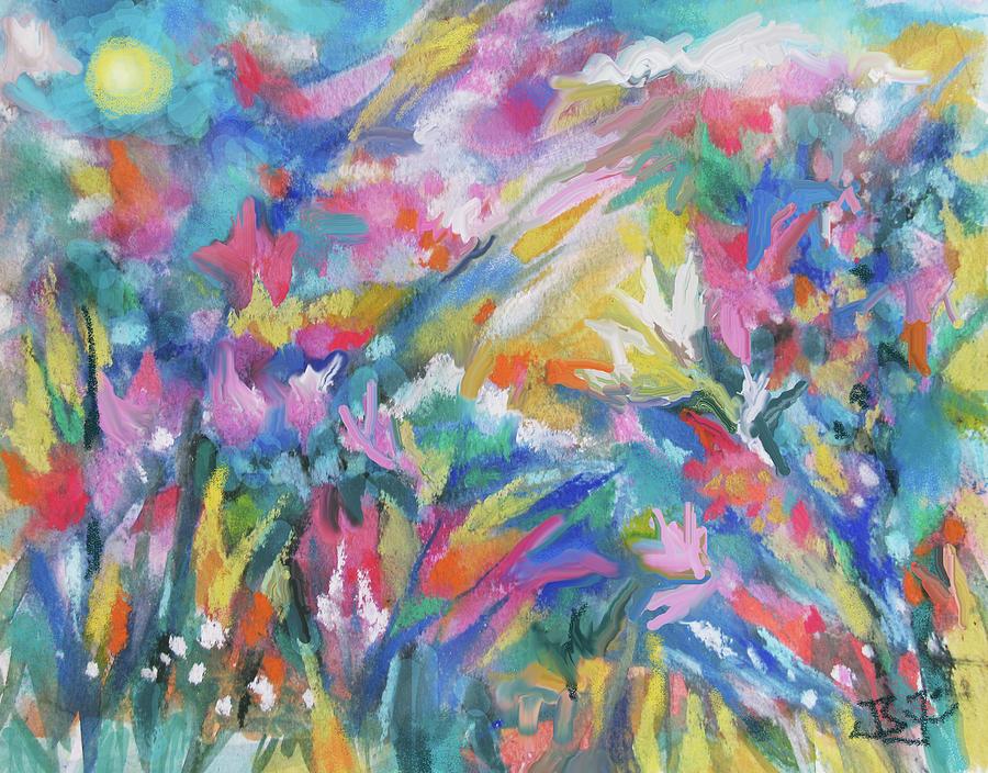 Soft Garden Breezes by Jean Batzell Fitzgerald