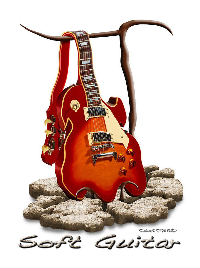Rock And Roll Photograph - Soft Guitar - 3 by Mike McGlothlen