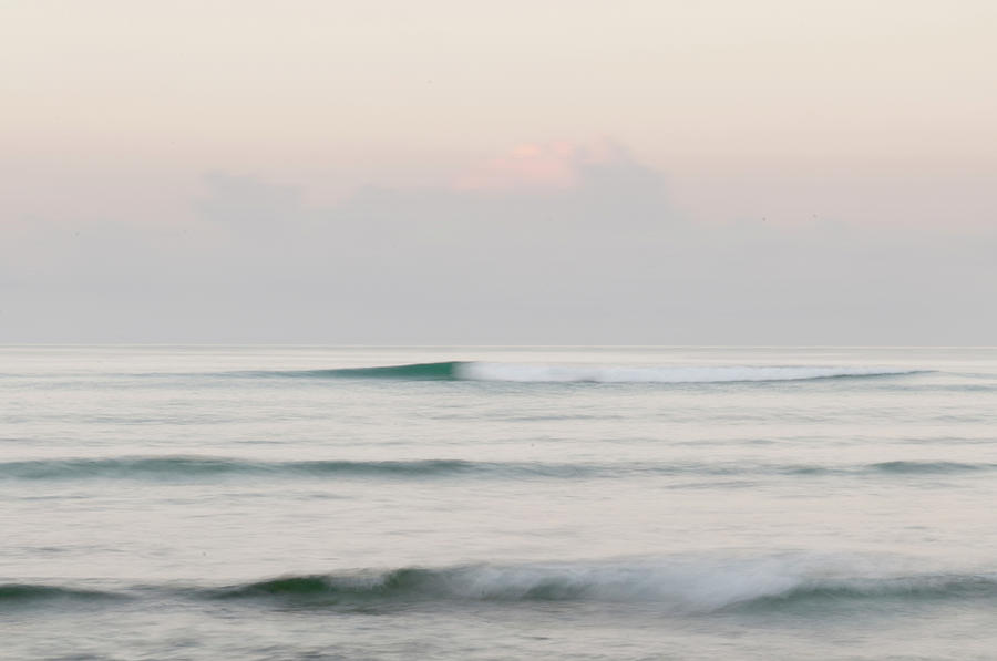 Soft Waves Breaking Offshore Photograph by Stuart Mccall