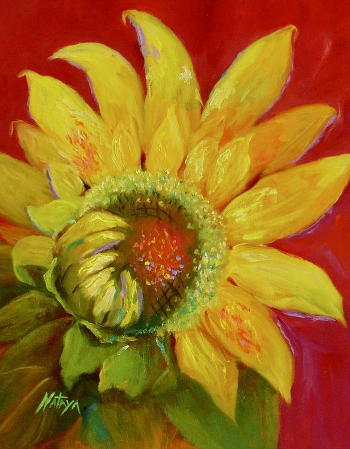 Sunflower Painting - Sol Fleur by Nataya Crow