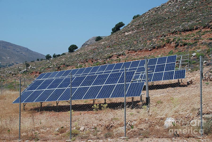 Solar energy bank on Tilos by David Fowler