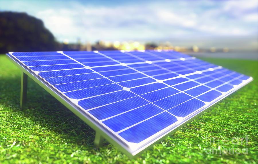 Solar Panel Photograph - Solar Farm by Ktsdesign/science Photo Library