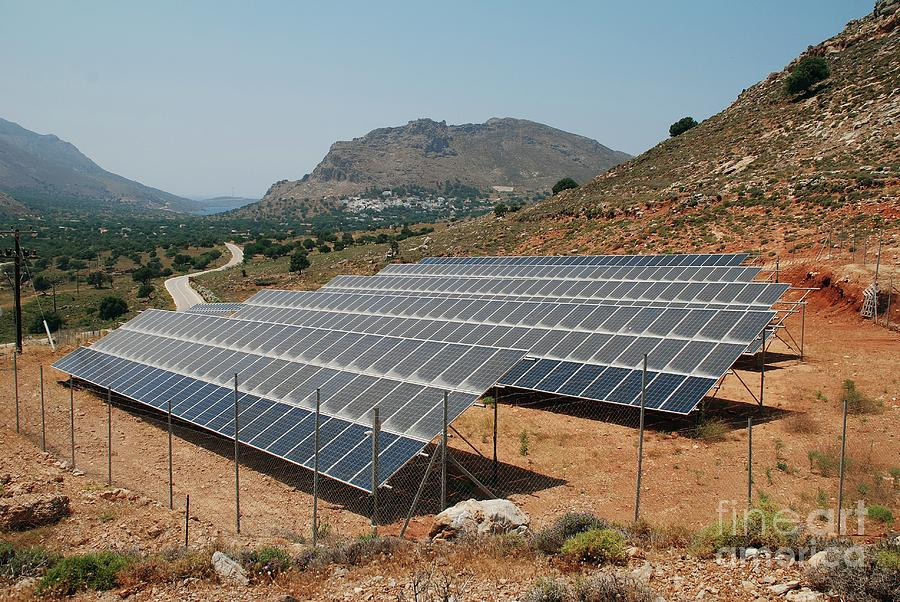 Solar power array on Tilos by David Fowler