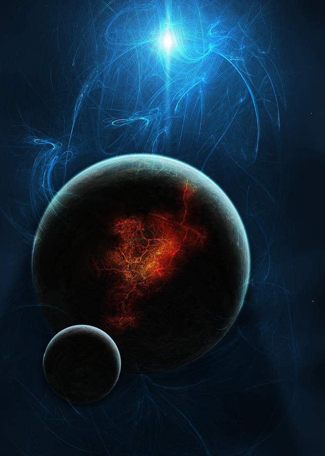 Space Digital Art - Solar Winds by Visions Beyond