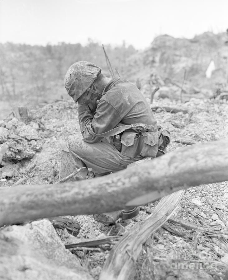 Soldier Weeps After Battle In South Photograph by Bettmann