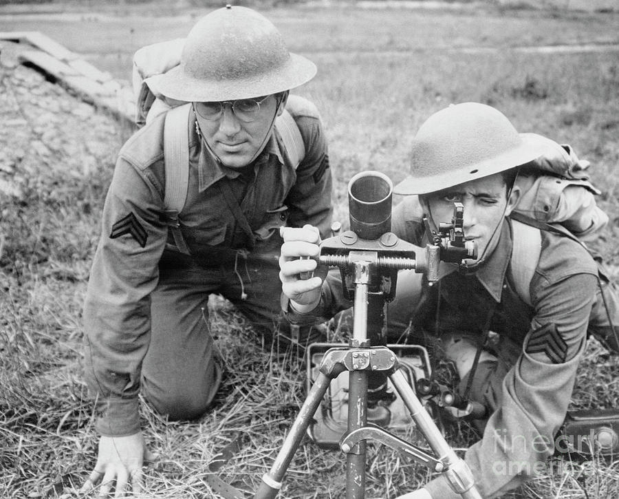 Soldiers Training On Land Weaponry Photograph by Bettmann