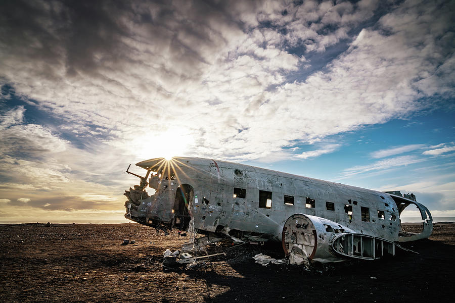 Iceland Photograph - Solheimasandur Plane Wreck by Framing Places