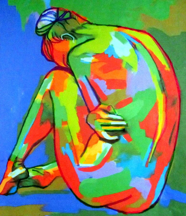 Solitary figure by Helena Wierzbicki