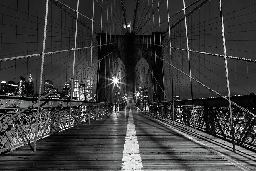 Solitude on the Brooklyn Bridge by John Daly