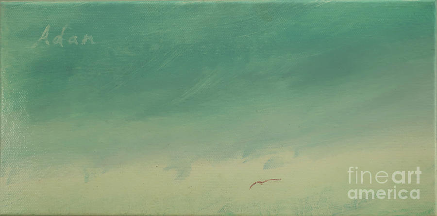 Decorative Painting - Solo Flight Blue Sky by Felipe Adan Lerma