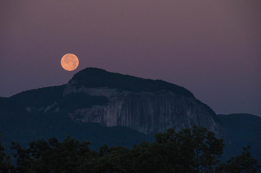 Landscape Photograph - Solstice Moon Over Table Rock by Thomas Taylor