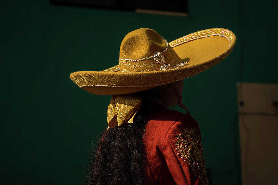 Escaramuza Photograph - Sombrero and an Escaramuza Cowgirl in Mexico by Dane Strom