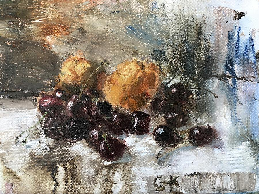 Fruit Painting - Some Fruits by Izedi Putru