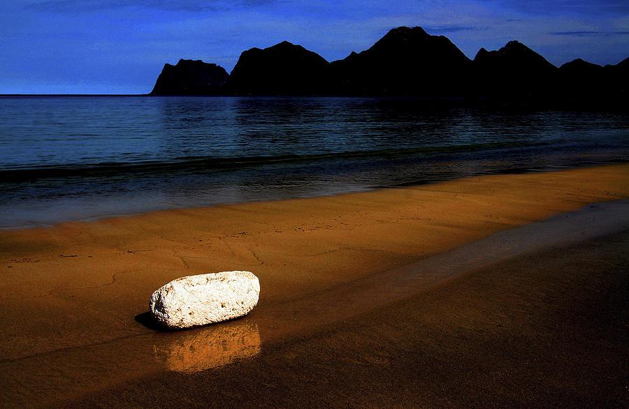 Beach Photograph - Something White by Bror Johansson