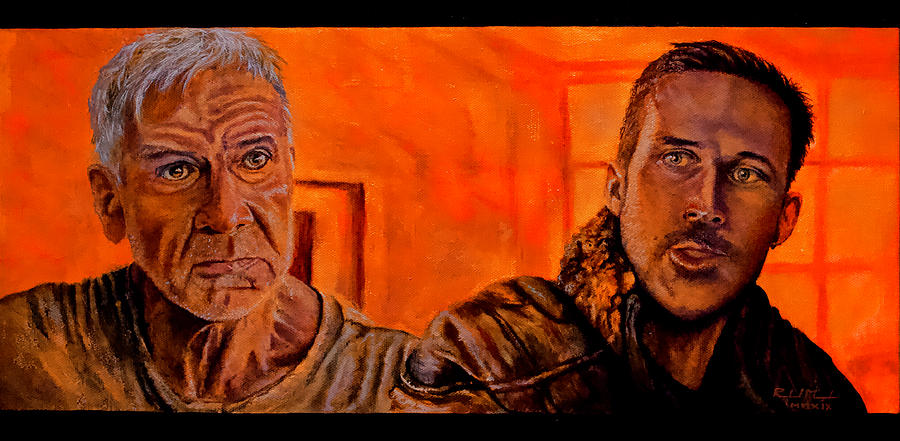 Movie Scenes Painting - Sometimes You Gotta Be A Stranger by Roland Miguel