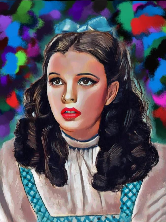 Judy Garland Digital Art - Somewhere Over The Rainbow by Karen Showell
