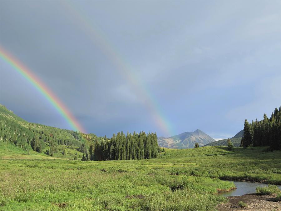 Mountain Photograph - Somewhere Over the Rainbow by Lori J Welch