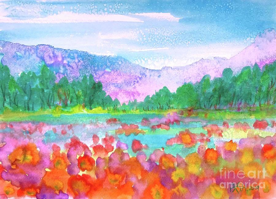 Landscape Painting - Somewhere Pretty by Wonju Hulse